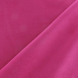 Tissu velours milleraies 200gr/ml rose bonbon
