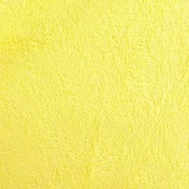 Tissu éponge jaune paille