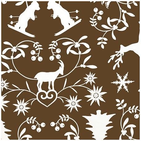 tissu coton montagne chocolat x 10cm ma petite mercerie. Black Bedroom Furniture Sets. Home Design Ideas