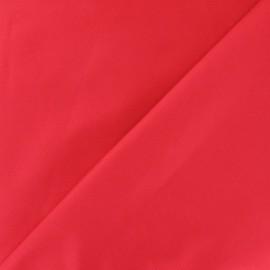 Tissu piqué de coton rouge x 10cm