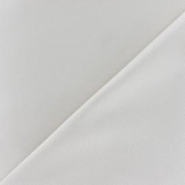Tissu piqué de coton beige clair x 10cm