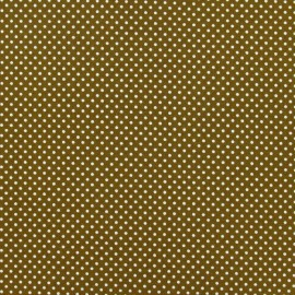 Tissu thermocollant pois beige (A4)