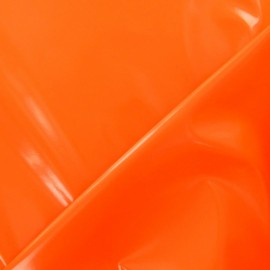 Tissu Vinyl Interlock orange fluo