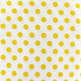 Dots Fabric - Yellow / White x 10cm