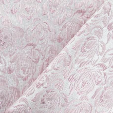 tissu damass aliz rose x 10cm ma petite mercerie. Black Bedroom Furniture Sets. Home Design Ideas