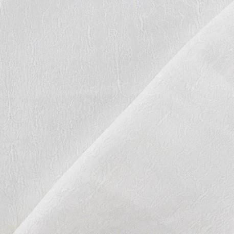 tissu damass royal blanc x 10cm ma petite mercerie. Black Bedroom Furniture Sets. Home Design Ideas