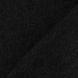 Tissu Damassé Royal noir x 10cm