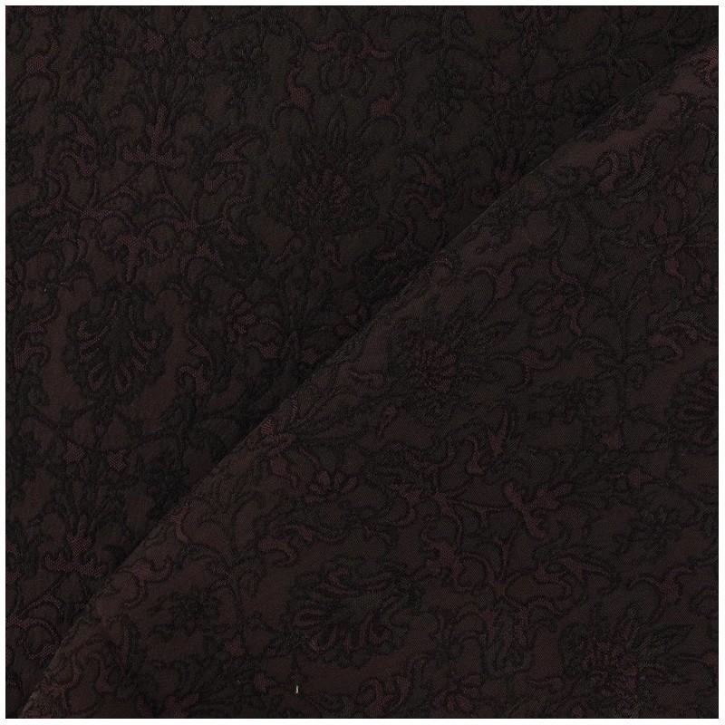 tissu damass royal marron x 10cm ma petite mercerie. Black Bedroom Furniture Sets. Home Design Ideas