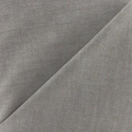 Tissu Chambray marron x 10cm