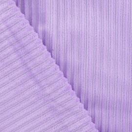 Tissu velours minkee à côtes parme x 10cm