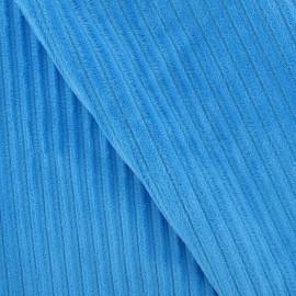 Tissu velours minkee à côtes turquoise x10cm