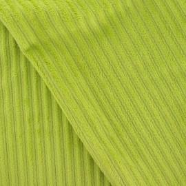 Tissu velours minkee à côtes anis x10cm