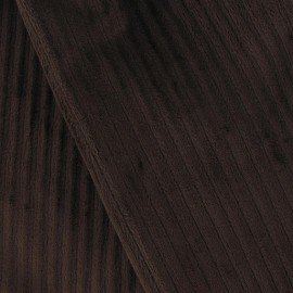 Tissu velours minkee à côtes marron x10cm