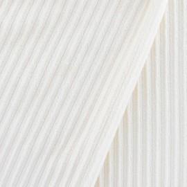 Tissu velours minkee à côtes écru x10cm