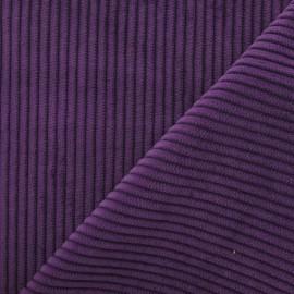 Tissu velours à grosses côtes violet x 10cm