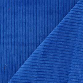 Tissu velours à grosses côtes bleu roy x 10cm