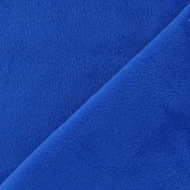 Tissu velours minkee doux ras bleu navy x 10cm
