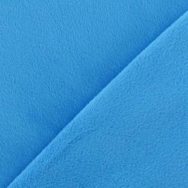 Tissu velours minkee doux ras turquoise x 10cm