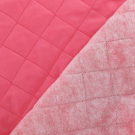 Doublure matelassée rose fluo x 10cm