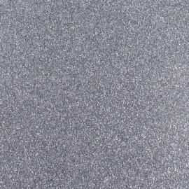 Tissu thermocollant paillettes gris