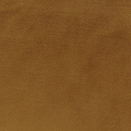Tissu velours éponge jersey camel x 10 cm