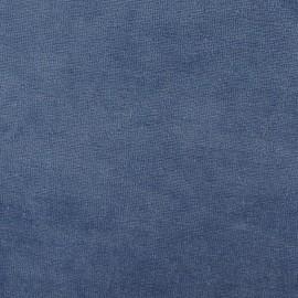 Tissu velours éponge jersey gris bleu x 10 cm