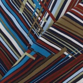 Tissu Gabardine Multi Zigzag chocolat x 10cm