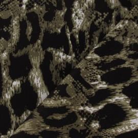 Tissu Gabardine Reptile taupe x 10cm