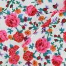Tissu velours milleraies Roses écru x 10cm