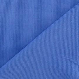 Tissu velours milleraies bleuet 300gr/ml x 10cm