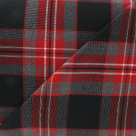 Tissu tartan écossais rouge carmin x10cm