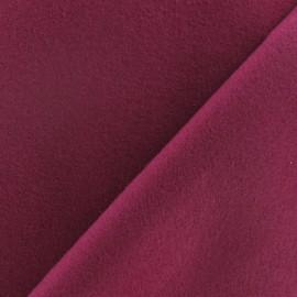 Tissu drap manteau framboise x 10cm