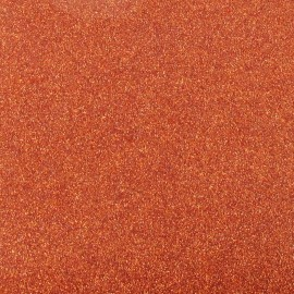 Tissu thermocollant paillettes orange