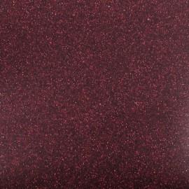 Tissu thermocollant paillettes prune