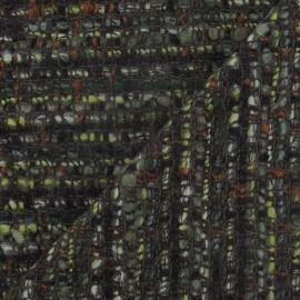 Tissu Tweed Coco vert militaire x 10cm