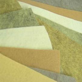 Feutrine de laine beige
