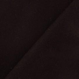 Tissu drap de laine marron x 10cm