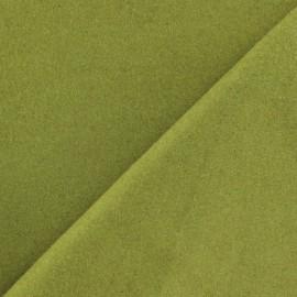 Tissu drap de laine vert anis x 10cm