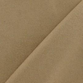 Tissu drap de laine sable foncé x 10cm