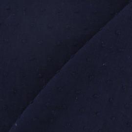 Tissu Plumetis bleu nuit x 10cm