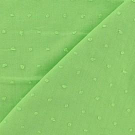 Tissu Plumetis vert anis x 10cm