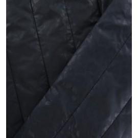 Tissu doublure matelassée effet léopard bleu marine x 10cm