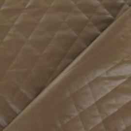 Tissu doublure matelassée carreaux camel x 10cm