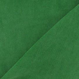 Tissu velours milleraies vert prairie 300gr/ml x 10cm
