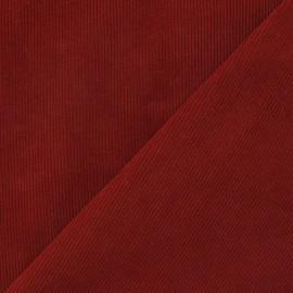 Tissu velours milleraies rouge carmin 300gr/ml x 10cm