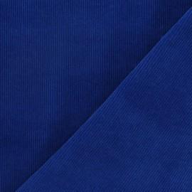 Tissu velours milleraies bleu roy 300gr/ml x 10cm