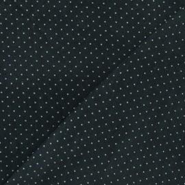 Tissu velours milleraies mini pois vert militaire x 10cm