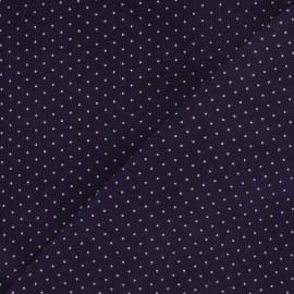 Tissu velours milleraies mini pois violet x 10cm