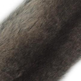 Amber Fur Ribbon 100mm x 50cm - Chocolate