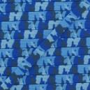 Elastique 7 mm camouflage bleu